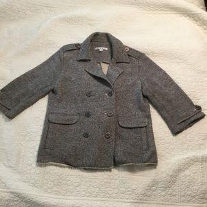 CAbi Pea Coat Style Sweater. Size Small